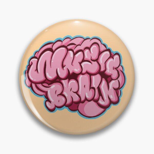Music Brain Pin