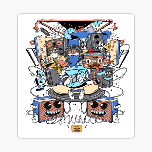 Music Euphoria  Sticker