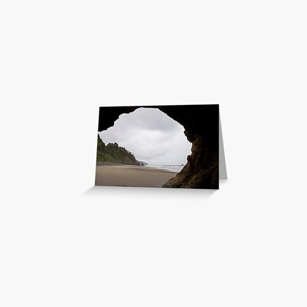 Looking out at the Stormy Oregon Coast Greeting Card