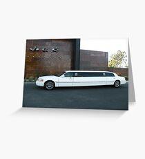 Limousine Greeting Card