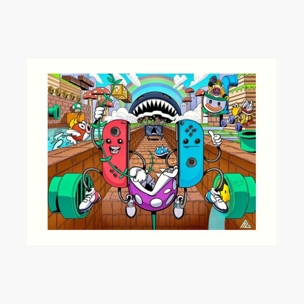Super Joy-Con Bros. Art Print