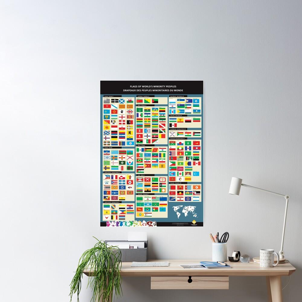 Poster «Affiches des drapeaux des peuples minoritaires du monde»