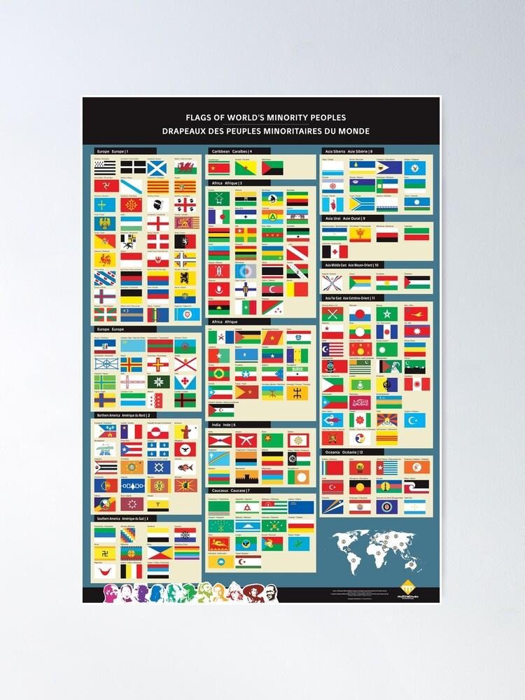 Poster ''Affiches des drapeaux des peuples minoritaires du monde': autre vue