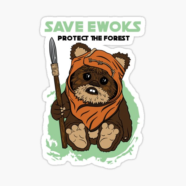Save Ewoks Sticker