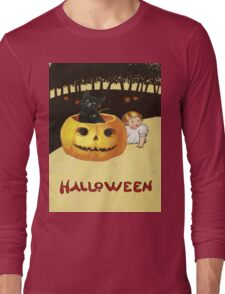 Shocking The Baby (Vintage Halloween Card) Long Sleeve T-Shirt