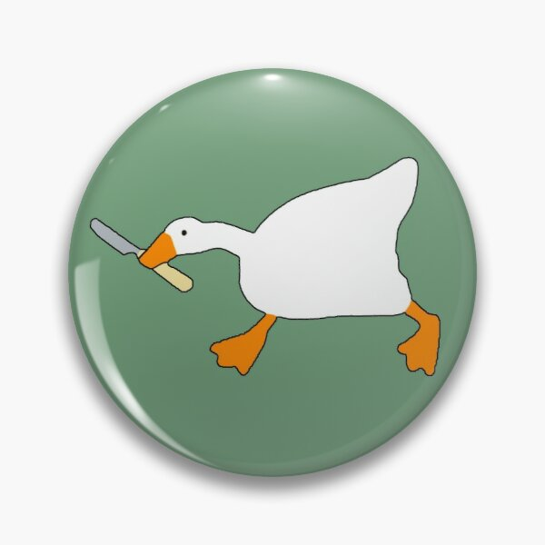 Goose with Knife - Untitled Goose Game Pin