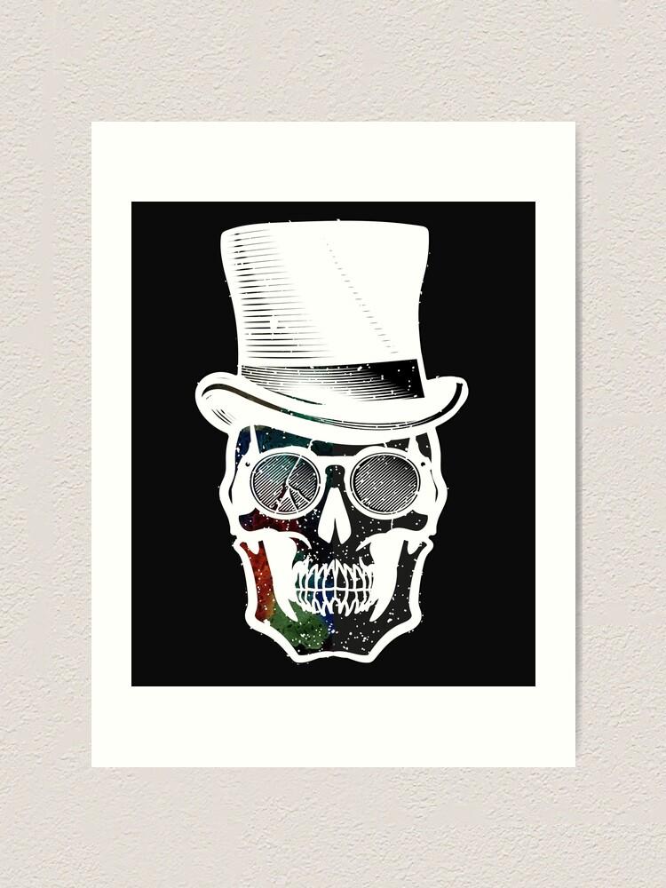 Alternate view of Steampunk Galaxy Skull Bold Print Design Art Print