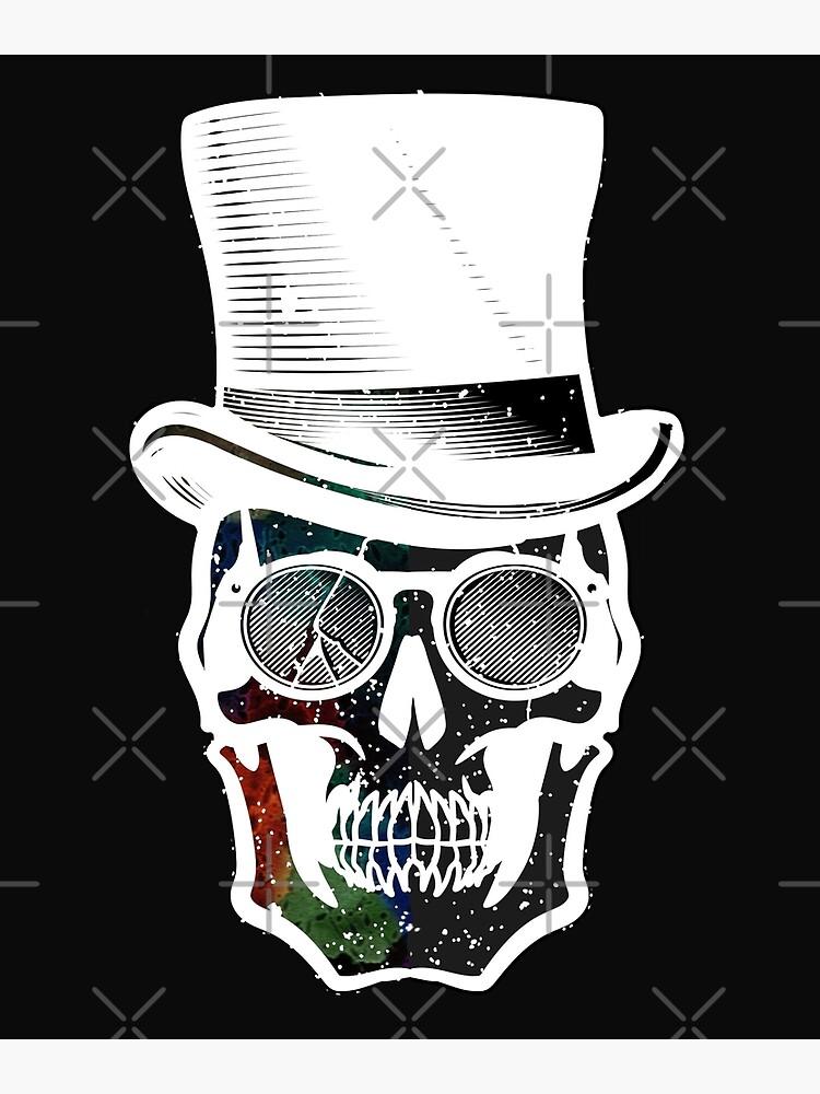 Steampunk Galaxy Skull Bold Print Design by bowiebydesign
