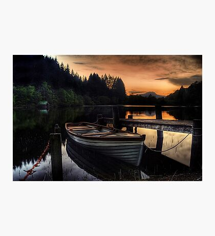 Golden Sunset over Loch Ard Photographic Print