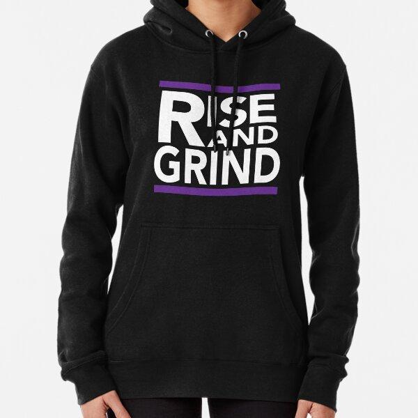 Rise and Grind - RUN DMC - Purple Pullover Hoodie