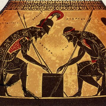 Achilles and Ajax Playing Game by GysWorks