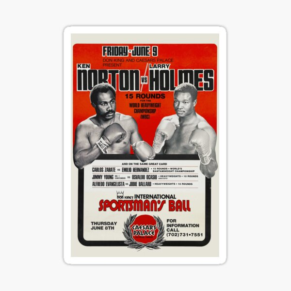 Boxing Poster and T-Shirt: Heavy hitters face to face Sticker