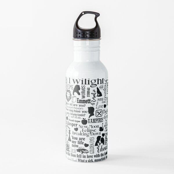 Twilight Themed Sub Way Art Graphic Water Bottle