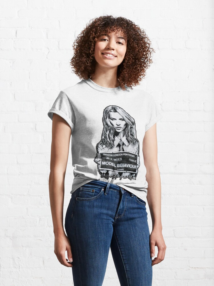 Alternate view of Kate Moss Stencil from London Classic T-Shirt