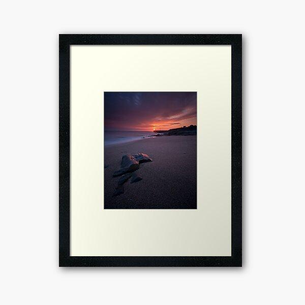 Porthleven Sunset Framed Art Print