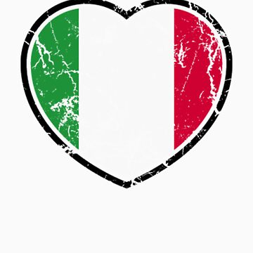 Italian Flag Heart by pinballmap13
