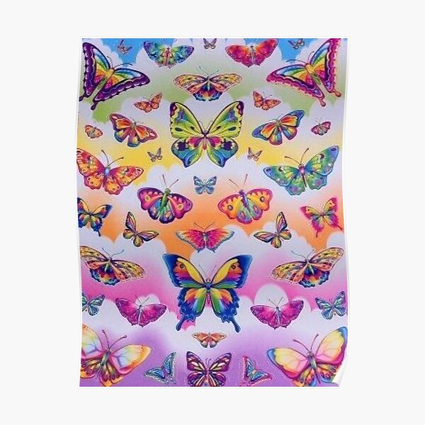 lisa frank rainbow y2k collage aesthetic Poster