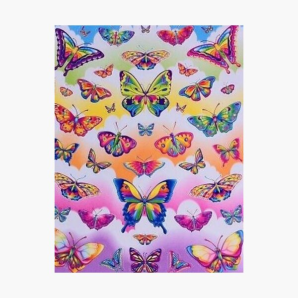 lisa frank rainbow y2k collage aesthetic Photographic Print