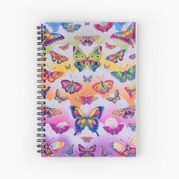lisa frank rainbow y2k collage aesthetic Spiral Notebook