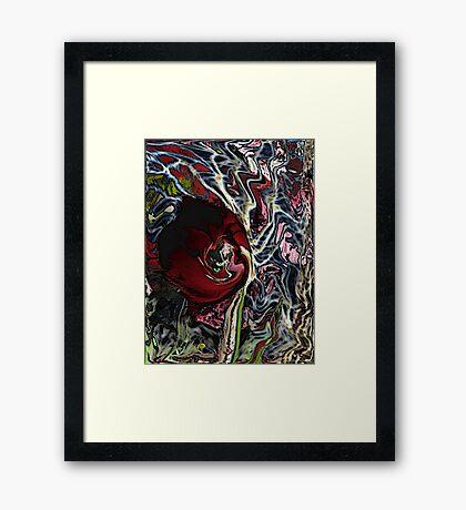 psychosomatic flower Framed Print