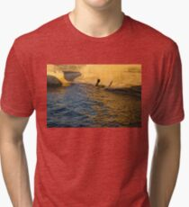 Early Morning Gold at Valletta's Fortifications Tri-blend T-Shirt