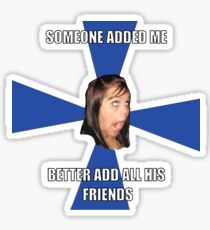facebook girl meme Sticker