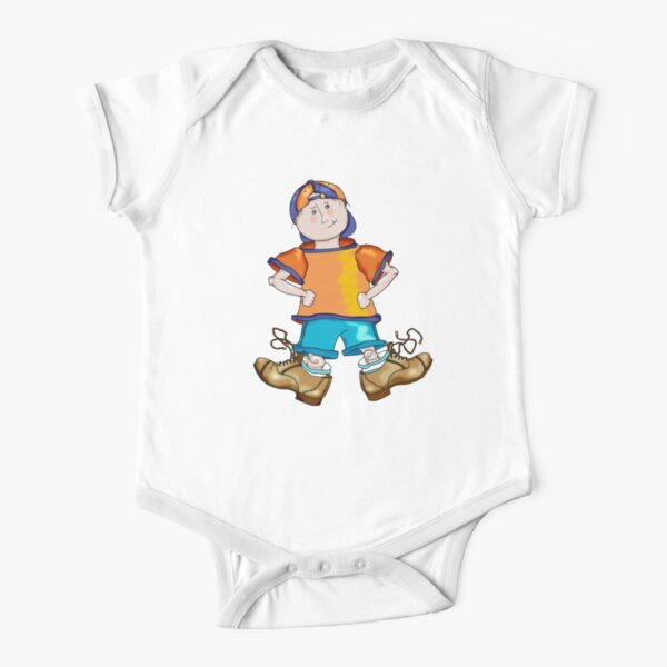 My Big Shoes Short Sleeve Baby One-Piece