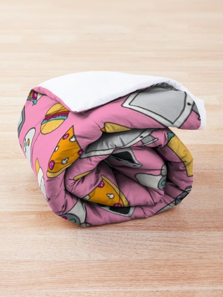 Alternate view of Gamer Girl Pink Fast Food Gaming Pattern Comforter