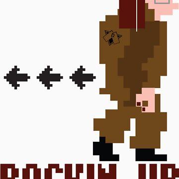 DAV Brandz Backin Up Lady Pixel Tee by DAVbrandz