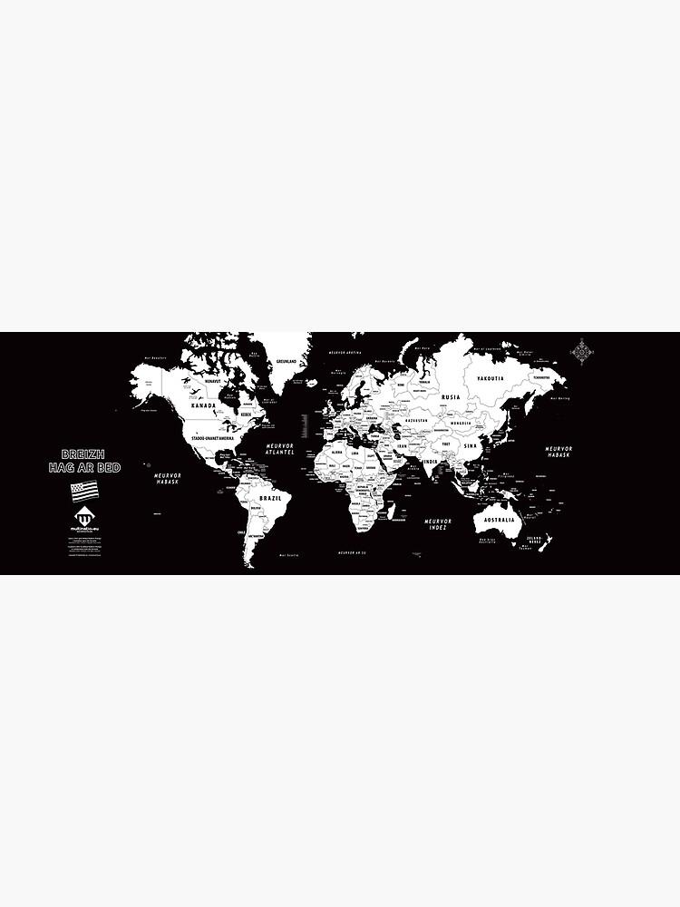 «Carte du monde design en format long en breton» par Multinatio