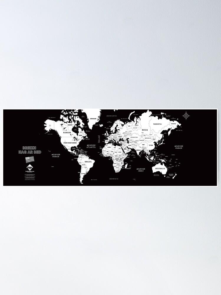 Poster ''Carte du monde design en format long en breton': autre vue