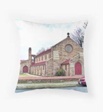 Woodstock Christian Church Throw Pillow