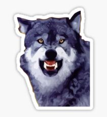 wolf meme Sticker