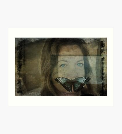 Silence...(Behind blue eyes) Kunstdruck