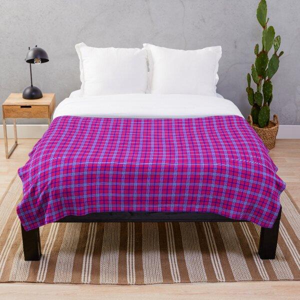 Maasai shúkà pattern II Throw Blanket