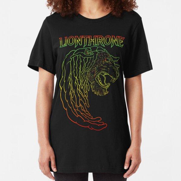 Rasta Lion icon Slim Fit T-Shirt