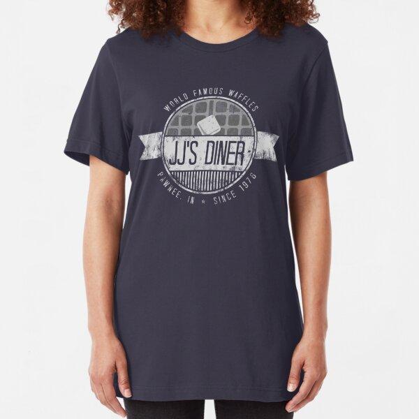 jj's diner - b&w Slim Fit T-Shirt