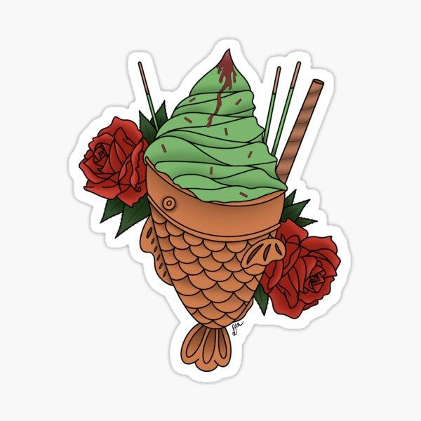 Matcha Taiyaki Sticker