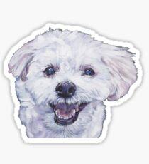 Morkie Fine Art Painting Sticker
