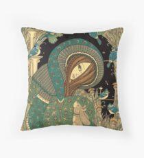 Jackalope Garden Throw Pillow