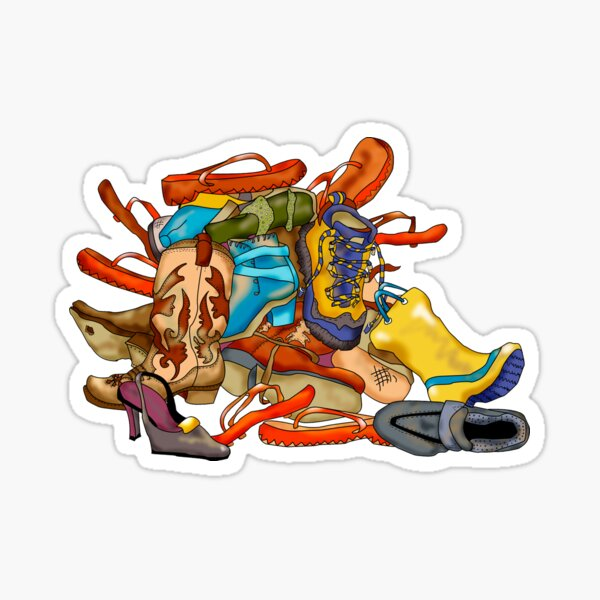 Pile of Shoes Sticker