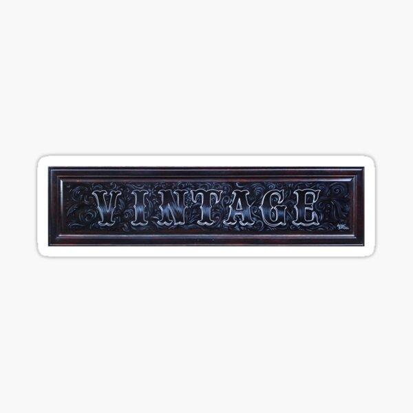 Vintage signage Hand Painted Sticker