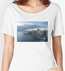 Offshore Rainstorm - Sliema's Famous Promenade Waking Up Women's Relaxed Fit T-Shirt