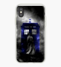The Doctor and his blue box iPhone Case