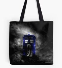 The Doctor and his blue box Tote Bag