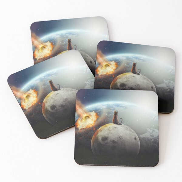 Cat Victory Coasters (Set of 4)