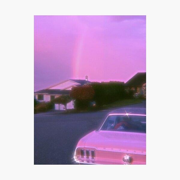 car rainbow vintage aesthetic print Photographic Print