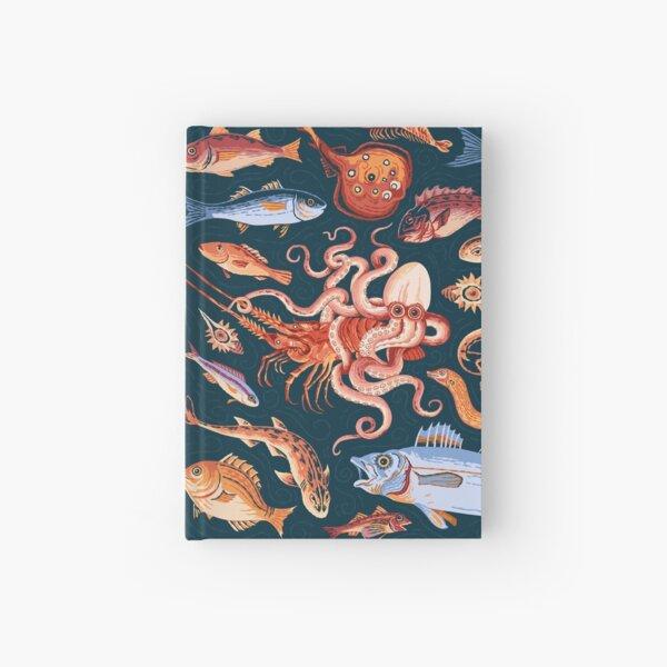 Roman Marine mosaic  Hardcover Journal