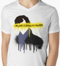 I believe in Sherlock Holmes Men's V-Neck T-Shirt