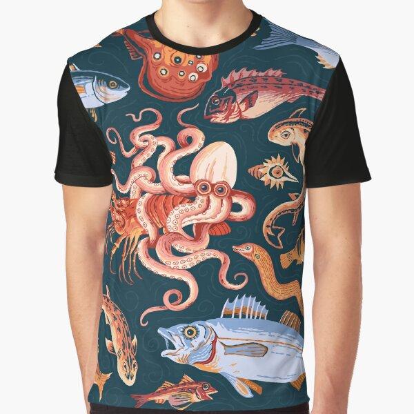 Römisches Marinemosaik Grafik T-Shirt